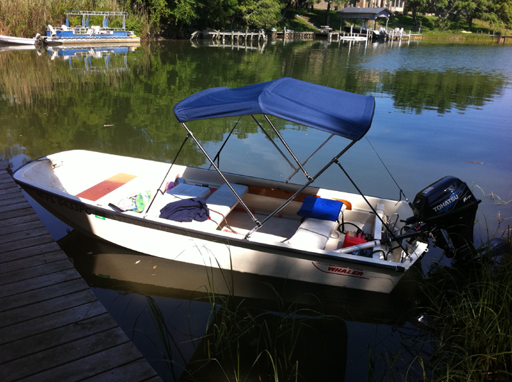 A ... & Boston Whaler 13 15 17 Bimini Top Installation and Review | Boston ...